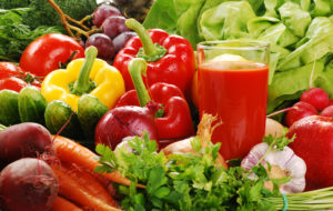 Senior home care - fresh vegetables and juice to help meet senior dietary needs